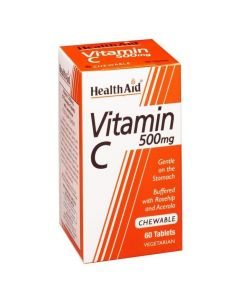Health Aid Vitamine C με Rosehip & Acerola 60 Μασώμενες Ταμπλέτες 500mg