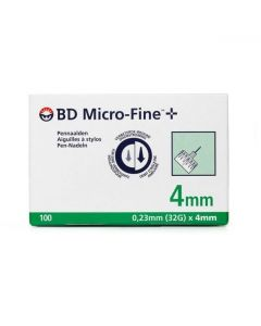 BD Micro-Fine Αιχμές για Πένα 4mm x 0.23mm (32G), 100τμχ
