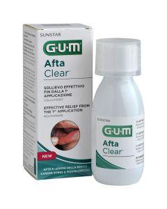 Gum Afta Clear Mouthrinse Στοματικό Διάλυμα για τη Θεραπεία Αφθών, 120ml