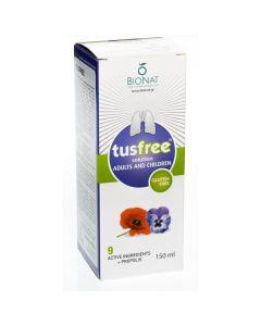 ΒΙΟΝΑΤ Tusfree, Φυτικό Σιρόπι για Ξηρό & Παραγωγικό Βήχα, 150ml