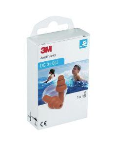 3M Aquafit Earplugs Junior Επαναχρησιμοποιήσιμες Αδιάβροχες Παιδικές Ωτοασπίδες, 1 ζευγάρι με Θήκη