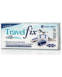 UniPharma Travel Fix με Ginger Συμπλήρωμα Διατροφής για τη Ναυτία 500mg, 10tabs