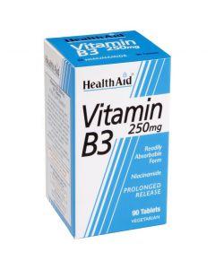 Health Aid Vitamin B3 (Niacin) 250mg, 90 tabs