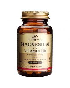 Solgar Magnesium with Vitamin B6, 100tabs