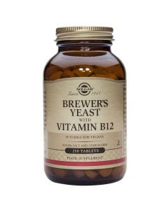 Solgar Brewer's Yeast with Vitamin B-12, 250tabs