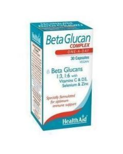 Health Aid BetaGlucan COMPLEX, 30 vcaps