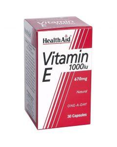 Health Aid VITAMIN E1000 i.u (670mg), 30 κάψουλες