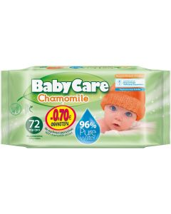 BabyCare Chamomile Μωρομάντηλα, 72τμχ