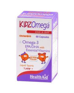 Health Aid Kidzomega Chewable Omega 3, 60caps