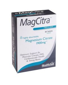 Health Aid MagCitra - Magnesium Citrate 1900mg, 60 tabs