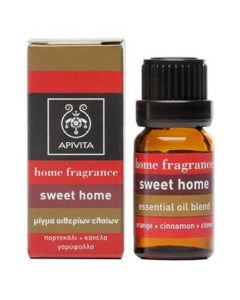 Apivita Αρωματικά Έλαια Sweet Home με Κανέλλα και Πορτοκάλι, 10ml