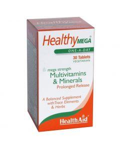 Health Aid Healthy Mega Multivitamins & Minerals, 30vegantabs