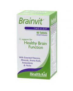 Health Aid Brainvit, για την Υγιή Λειτουργία του Εγκεφάλου, Μνήμης, Συγκέντρωσης & Διαύγειας, 60tabs