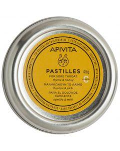 Apivita Pastiles with thyme & honey, 45gr