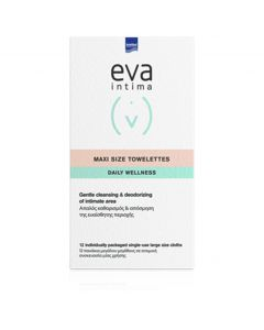 Intermed Eva Intima Fresh & Clean Maxi Size Towelettes, 12τμχ