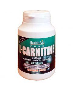 Health Aid L-Carnitine with Vitamin B6 & Chromium, 30tabs