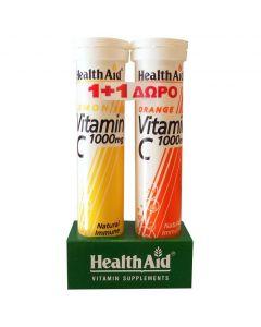 Health Aid Vitamin C 1000mg με Γεύση Λεμόνι, 20tabs & Δώρο Vitamin C 1000mg με Γεύση Πορτοκάλι, 20tabs