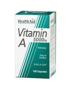 Health Aid VITAMIN A (Palmitate) 5000 i.u, 100caps