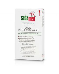 SEBAMED Liquid Face & Body Καθαριστικό προσώπου & σώματος για την ευαίσθητη επιδερμίδα, 300ml