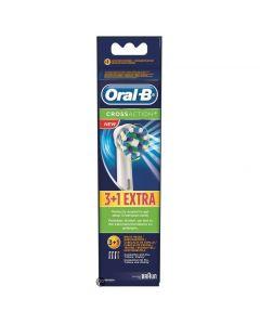Oral-B Cross Action Brush Heads 3+1 Δώρο, 4 τμχ