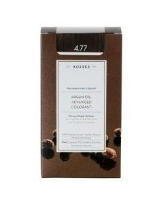 Korres Βαφή ARGAN OIL Advanced Colorant 4.77 Σκούρο Σοκολατί, 50ml