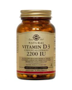 Solgar Vitamin D3 (Cholecalciferol) 2200IU, 100vegan caps