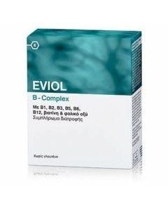 Eviol B-Complex Συμπλήρωμα Συμπλέγματος Βιταμίνης B για τη Φυσιολογική Λειτουργία του Νευρικού Συστήματος, 30 caps