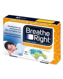 Breathe Right Kids Παιδικές Ρινικές Ταινίες, 10τμχ