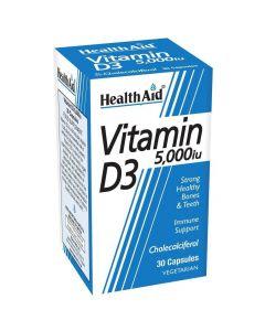 Health Aid Vitamin D3 5000 IU Βιταμίνη D3, 30 tabs