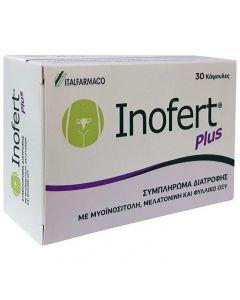 Inofert Plus Συμπλήρωμα Διατροφής για την αύξηση της Γυναικείας Γονιμότητας, 30 caps