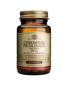 Solgar Chromium Picolinate 100μg Έλεγχος σακχάρου στο αίμα, 90tabs