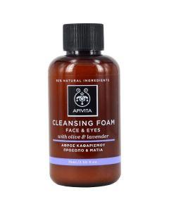 Apivita mini Cleansing Foam Face & Eyes, 75ml
