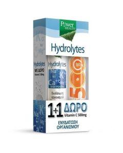 Power Health Promo Hydrolytes με Γεύση Λεμόνι 20Tabs & ΔΩΡΟ Vitamin C 500mg 20Tabs