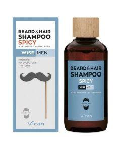 Vican Wise Men Beard & Hair Shampoo, 200ml