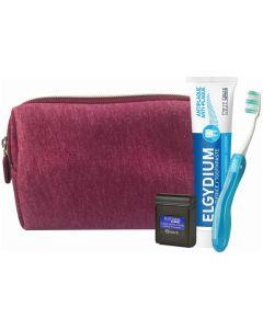 Elgydium Dental Travel Kit Μπορντό Νεσεσέρ