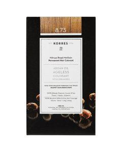 Korres Argan Oil Ageless Colorant 8.73 Χρυσή Καραμέλα Μόνιμη Βαφή Μαλλιών, 50ml