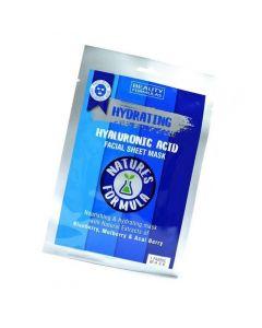 Beauty Formulas Ενυδατική μάσκα προσώπου με υαλουρονικό οξύ, 1τμχ