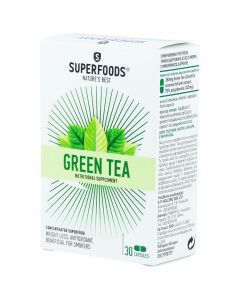Superfoods Green Tea, Πράσινο Τσάι, Αδυνάτισμα-Αντιοξειδωτικό, 30caps