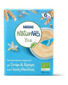 Nestle Naturnes Bio, Βιολογικά Βρεφικά Δημητριακά με Σιτάρι & Βρώμη με Γεύση Βανίλιας από 6 Μηνών, 200gr