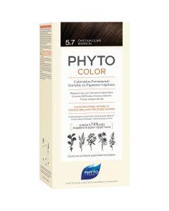 Phyto Phytocolor, Μόνιμη Βαφή Μαλλιών 5.7 Καστανό Ανοιχτό Μαρόν, 1τμχ