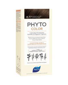 Phyto Phytocolor, Μόνιμη Βαφή Μαλλιών No 6.77 Μαρόν Ανοιχτό Καπουτσίνο, 1τμχ