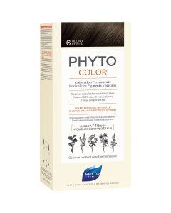Phyto Phytocolor, Μόνιμη Βαφή Μαλλιών Νο 6 Ξανθό Σκούρο, 1τμχ