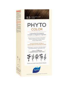 Phyto Phytocolor, Μόνιμη Βαφή Μαλλιών 5.3 Καστανό Ανοιχτό Χρυσό, 1τμχ
