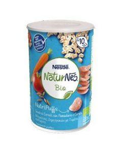 Naturnes®Bio Nutripuffs Βρεφικές Μπουκίτσες Δημητριακών με Τομάτα και Καρότο, 35gr