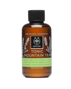 Apivita Tonic Mountain Tea Shower Gel, 75ml