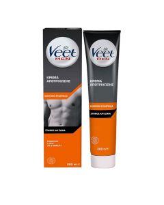 Veet for Men Κρέμα Αποτρίχωσηςγια Ευαίσθητη Επιδερμίδα για Στήθος & Πλάτη, 200ml