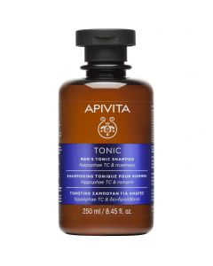 Apivita Men's Tonic Shampoo Mens with Hippophae TC & Roremary, 250ml