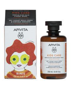 Apivita Kids Hair & Body Wash with tangerine & honey, 250ml