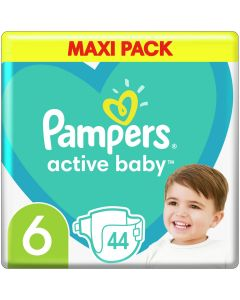 Pampers Active Baby Πάνες Maxi Pack No6 (13-18 kg), 44τμχ