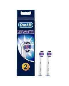 Oral-B 3D White Ανταλλακτικές Κεφαλές Ηλεκτρικής Οδοντόβουρτσας, 2τμχ